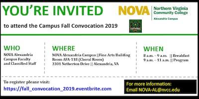 NOVA Alexandria Campus Fall Convocation 2019