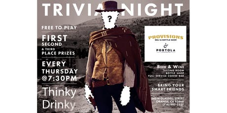 FREE GLORIOUS TRIVIA! Thursdays at Provisions tickets