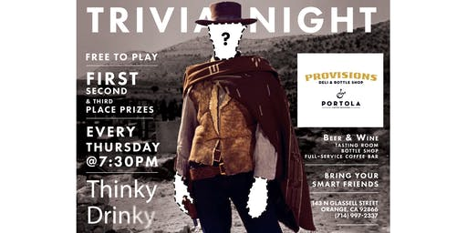 FREE GLORIOUS TRIVIA! Thursdays at Provisions