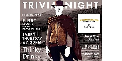 FREE GLORIOUS TRIVIA! Thursdays at Provisions