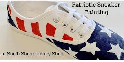 Patriotic Sneaker Painting