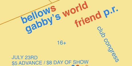 Bellows + Gabby's World (fka Eskimeaux, Ó) tickets