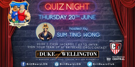 BritBears August Quiz Night with Sum Ting Wong tickets