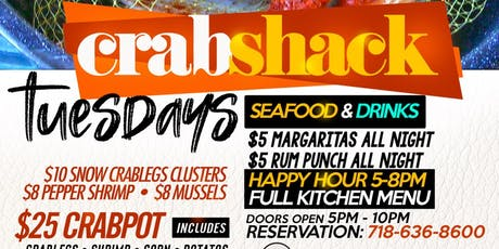 Crab Shack Tuesdays AT Milk River Restaurant tickets