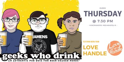 Geeks Who Drink Pub Trivia (Kingmakers Indianapolis)