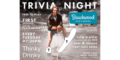 FREE TRIVIA, Tuesdays at Beachwood BBQ & Brewing tickets