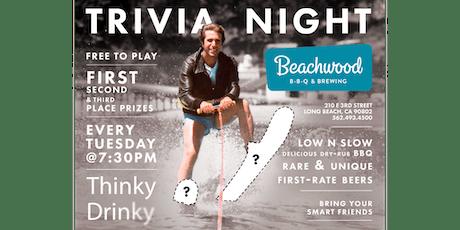 FREE TRIVIA, Tuesdays at Beachwood BBQ & Brewing tickets