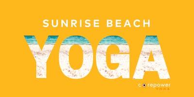 FREE Sunrise Beach Yoga presented by CorePower Yoga Winnetka