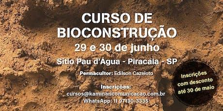 Curso de Bioconstrução ingressos