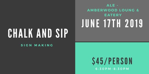 Chalk and Sip at ALE