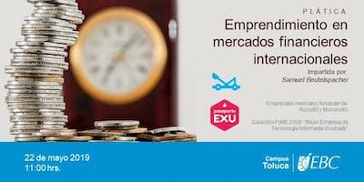 Emprendimiento en mercados  financieros Internacionales