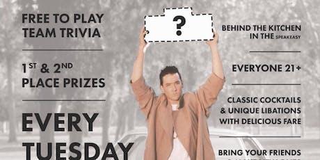Free Trivia, Tuesdays at Pie Society tickets