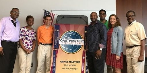 Improve your public speaking and leadership skills with Grace Masters Toastmasters!