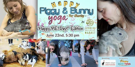 """Happy Piggy & Bunny Yoga: """"Happy ME-Day"""" at Farmers Branch Market tickets"""