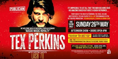 Tex Perkins LIVE with special guests LASH78 at Publican, Mornington