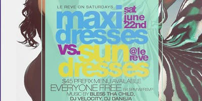Maxi Dresses vs Sun Dresses 2hr Bottomless Brunch + Day Party