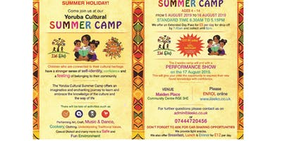 Yoruba Cultural Summer Camp an imaginative and enchanting journey to learn and embrace the knowledge of the culture.