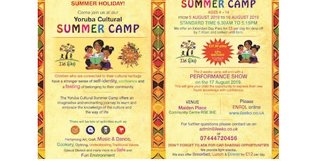 Yoruba Cultural Summer Camp an imaginative and enchanting journey to learn and embrace the knowledge of the culture. tickets