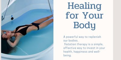 Flotation Therapy-Sign up with a friend and save! $98.00 for 2 people.