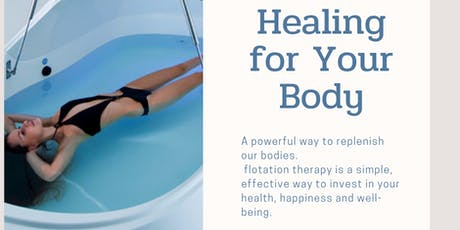 Flotation Therapy-Sign up with a friend and save! $120.00 tickets
