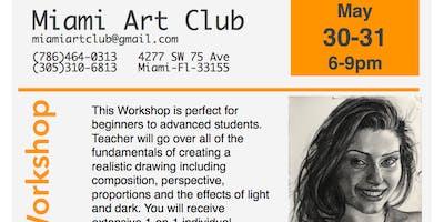 Live Model Portrait Workshop By Prof. Franklin Alvarez