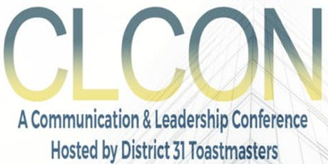 CLCON 2020 Communication & Leadership Conference hosted by D31Toastmasters tickets