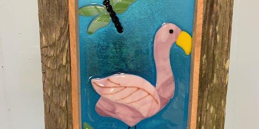 Flamingo Fused Glass Class