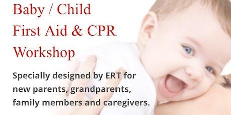 Baby/Child First Aid & CPR Training Workshop tickets