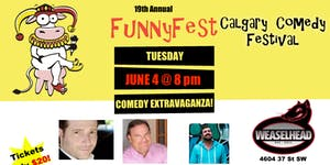 TUESDAY, June 4 @ 8 pm - COMEDY GALORE - WeaselHead...