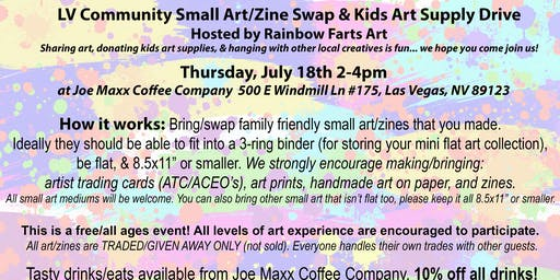 LV Small Art/Zine Swap & Kids Art Supply Drive! (Free/All Ages)