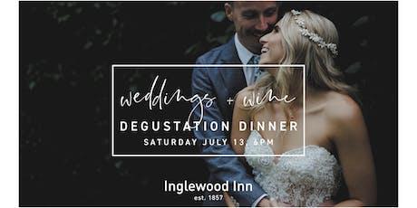 Weddings and Wine Degustation Dinner at the Inglewood Inn tickets