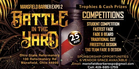 "Mansfield Barber Expo 2 ""Battle in the Yard"" Music Fest tickets"