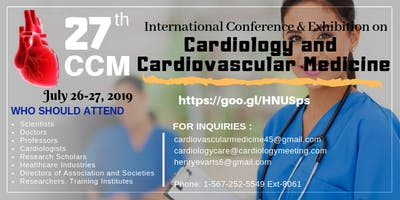 Conference and Exhibition on  Cardiology and Cardiovascular Medicine