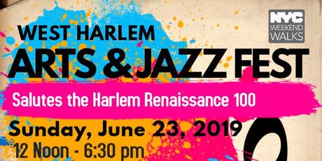 Hamilton Heights - West Harlem Arts & Jazz Fest: A Cultural Feast Celebrating the Harlem Renaissance Centennial tickets