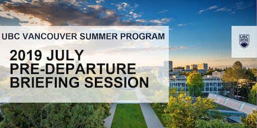 2019 Vancouver Summer Program July Pre-Departure Session (Hong Kong Island)