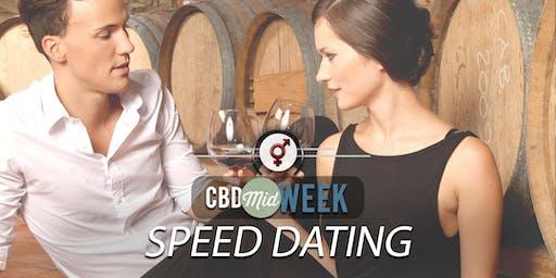 CBD Midweek Speed Dating   F 30-40, M 30-42   July