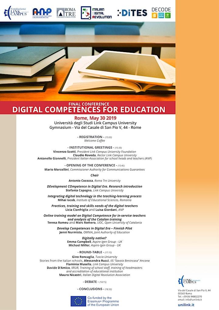 Immagine DIGITAL COMPETENCES FOR EDUCATION: CONFERENZA FINALE PROGETTO DECODE