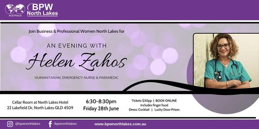 BPW North Lakes presents An Evening With Helen Zahos