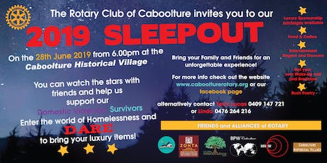 Rotary Club of Caboolture 2019 Sleepout tickets