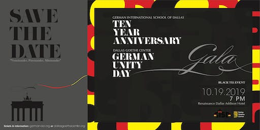 GALA 10 Year Anniversary & German Unity Day
