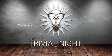 Singles Trivia Night | Age 34-49 | July tickets