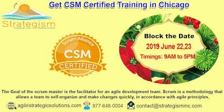 CERTIFIED SCRUM MASTER (CSM) Training in Chicago-June 22,23-2019 tickets