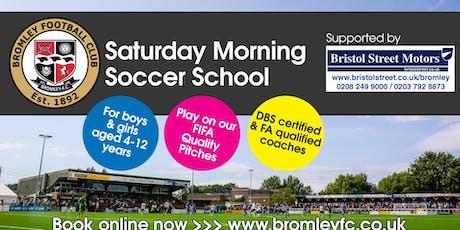 Saturday Morning Soccer School - 13th July 2019 tickets
