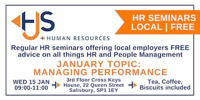 HJS *FREE* Monthly HR Seminar (Jan): Managing Performance
