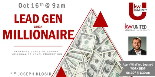 CES: Lead Generate like a Millionaire with Joseph Klosik