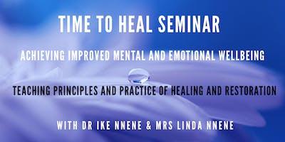 Time To Heal - Emotional & Mental Wellbeing Seminar