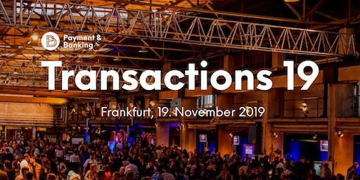 #TRX19 - Die Transactions 2019