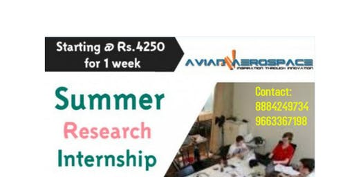 Summer Research Internship Cum Training Program