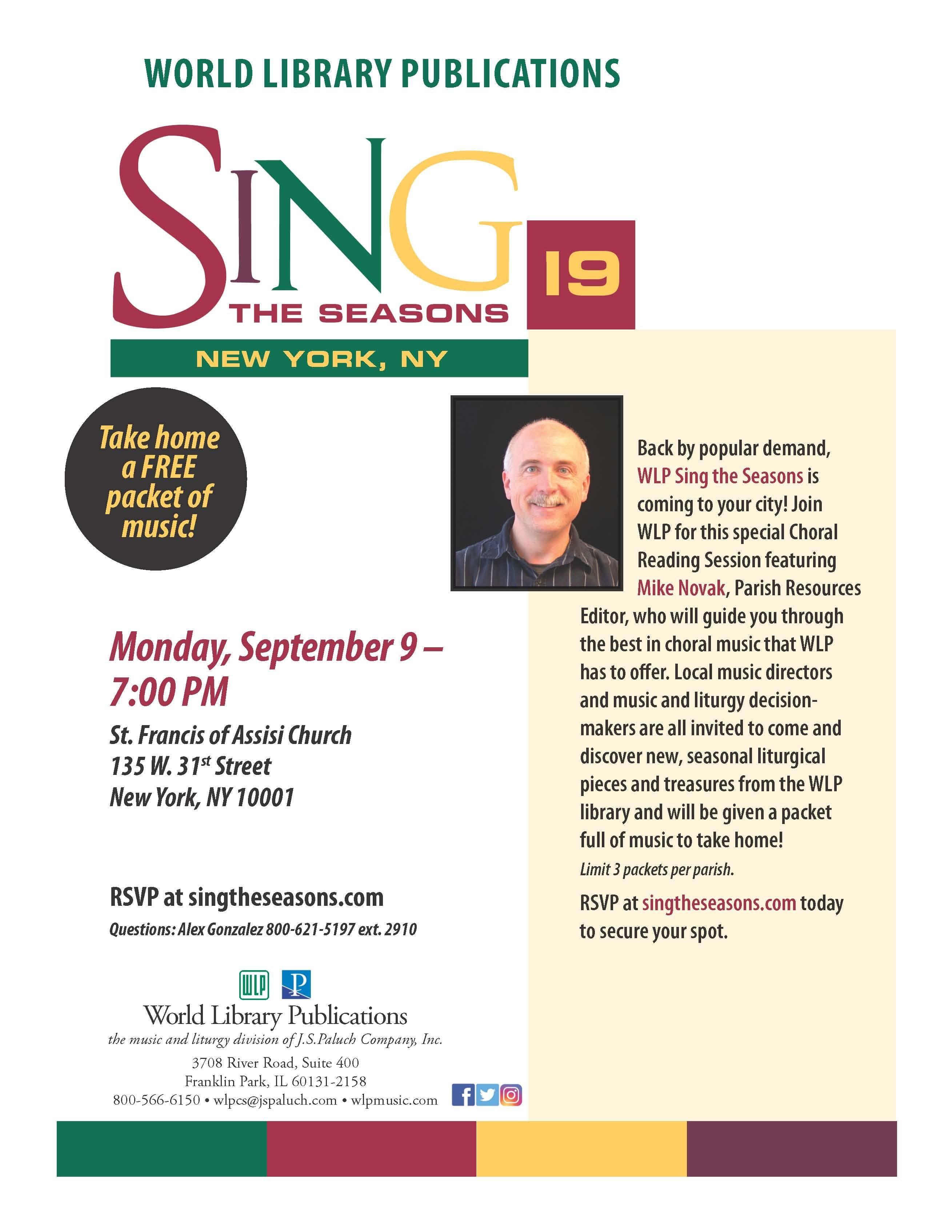 SING THE SEASONS 2019 - NEW YORK, NY
