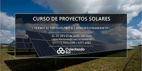 Curso de Proyectos Solares // San Juan  Junio 2019 entradas